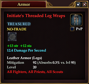Initiate's Threaded Leg Wraps