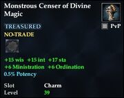 Monstrous Censer of Divine Magic