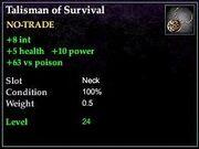 Talisman of Survival