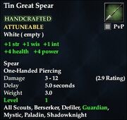 Tin Great Spear