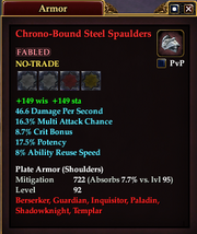 Chrono-Bound Steel Spaulders
