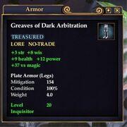 Greaves of Dark Arbitration
