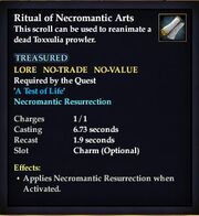 Ritual of Necromantic Arts