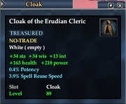 Cloak of the Erudian Cleric