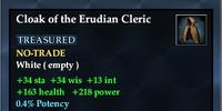 Cloak of the Erudian Cleric