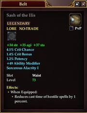 Sash of the Ilis
