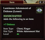 Luminous Adornment of Defense (Lesser)