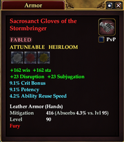 Sacrosanct Gloves of the Stormbringer