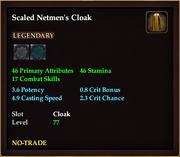Scaled Netmen's Cloak