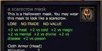 A scarecrow mask