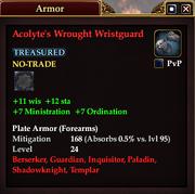 Acolyte's Wrought Wristguard