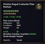 Carbonite Plate Barbute