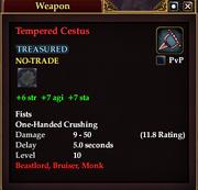 Tempered Cestus