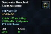 Deepwater Broach of Reconnaissance