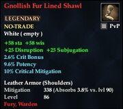 Gnollish Fur Lined Shawl