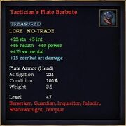 Tactician's Plate Barbute