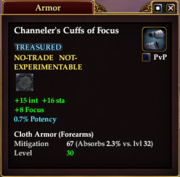 Channeler's Cuffs of Focus
