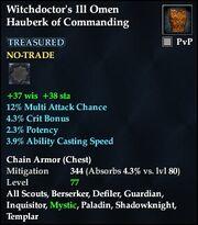 Witchdoctor's Ill Omen Hauberk of Commanding