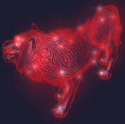 Petamorph Wand Spirit Lion Equipped
