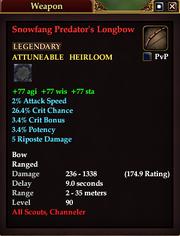 Snowfang Predator's Longbow