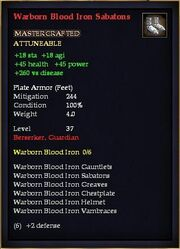 Warborn Blood Iron Sabatons