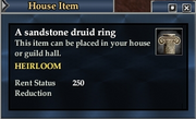 A sandstone druid ring
