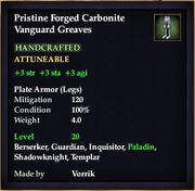 Carbonite Vanguard Greaves
