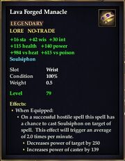 Lava Forged Manacle