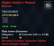 Mighty Soldier's Worked Bracers