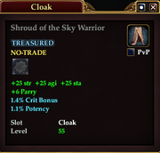 Shroud of the Sky Warrior