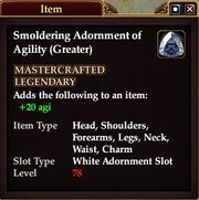 Smoldering Adornment of Agility (Greater)