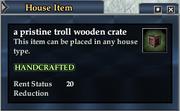 A pristine troll wooden crate