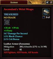 Ascendant's Wrist Wraps