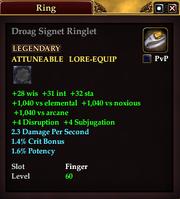 Droag Signet Ringlet