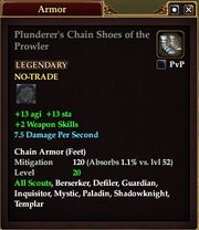 Plunderer's Chain Shoes of the Prowler