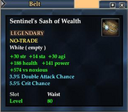 Sentinel's Sash of Wealth