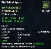 Tin Tribal Spear