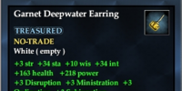 Garnet Deepwater Earring