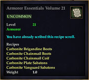 Armorer Essentials Volume 21