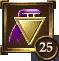 Icon Achievement purple triangle medal2 25