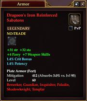 Dragoon's Iron Reinforced Sabatons