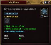 Icy Neckguard of Avoidance
