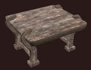 A pristine small alder militia table (Visible)