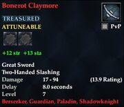 Bonerot Claymore