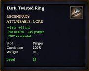 Dark Twisted Ring