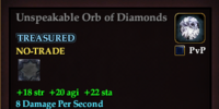 Unspeakable Orb of Diamonds