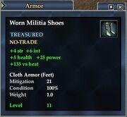Worn Militia Shoes