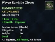 Woven Rawhide Leather Gloves