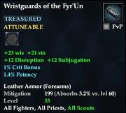 Wristguards of the Fyr'Un