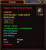 Signet of the Ry'Gorr Oracle